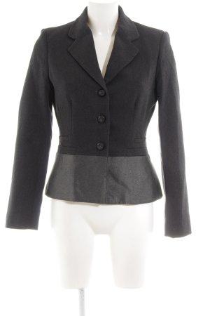 Mango Suit Woll-Blazer schwarz-hellgrau Business-Look