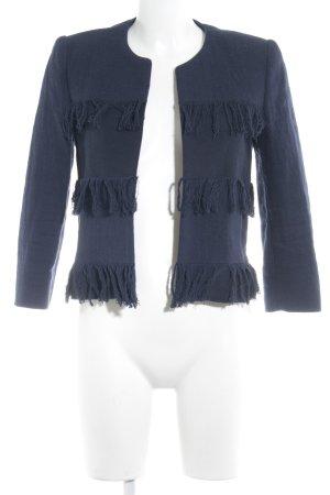 Mango Suit Woll-Blazer dunkelblau schlichter Stil