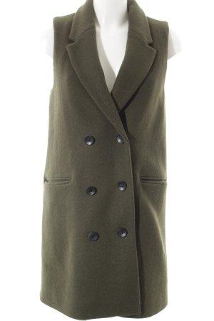 Mango Suit Woll-Blazer dunkelgrün