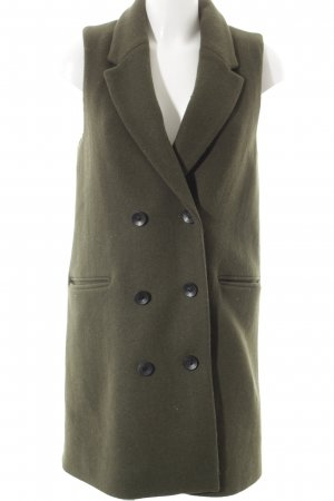 Mango Suit Blazer de lana verde oscuro