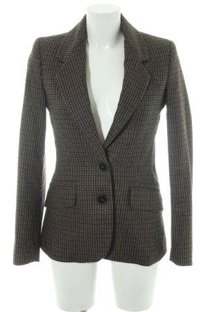 Mango Suit Wool Blazer grey brown-dark grey glen check pattern business style