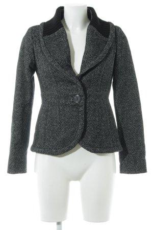 Mango Suit Blazer de lana negro-blanco moteado estilo «business»