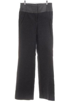 Mango Suit Wollen broek zwart-lichtgrijs zakelijke stijl