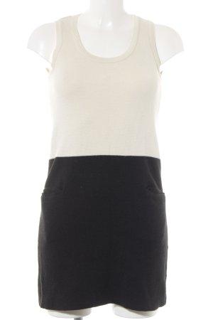Mango Suit Wollkleid creme-schwarz Casual-Look