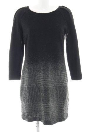 Mango Suit Vestido de lana negro-gris claro degradado de color look casual