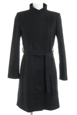 Mango Suit Manteau court noir style d'affaires