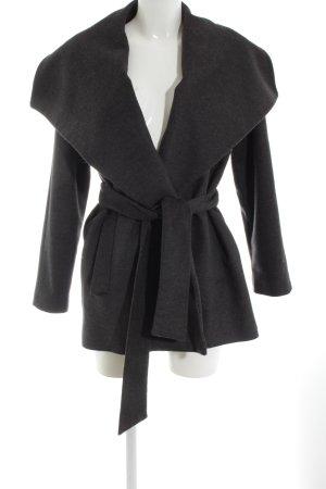 Mango Suit Cappotto in lana grigio scuro stile casual