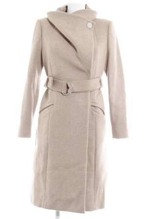 Mango Suit Wollmantel hellbeige Brit-Look
