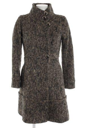 Mango Suit Abrigo de lana moteado elegante