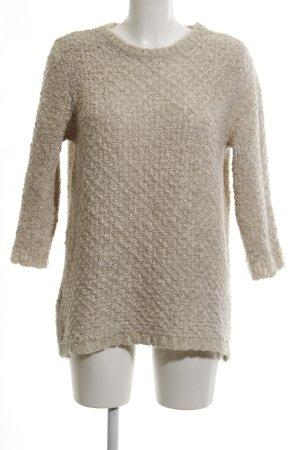 Mango Suit Wollpullover hellbeige Casual-Look