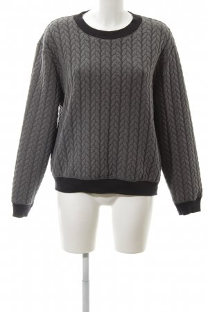 Mango Suit Cable Sweater light grey-black allover print business style