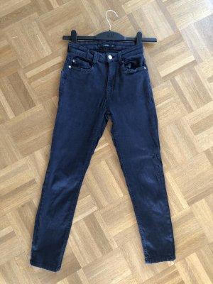 Mango Stretch jeans donkerblauw