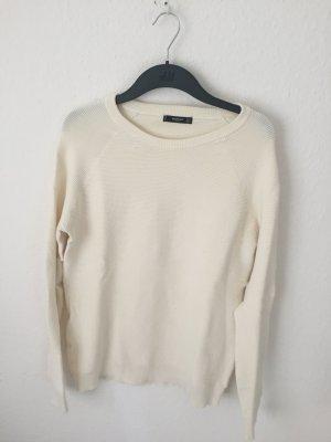 Mango Sweater Creme gerippt