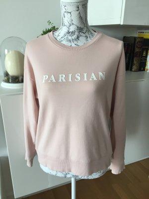 Mango Sweater Pullover Pulli rosa weiß Gr M/L Blogger