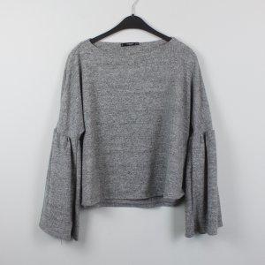 MANGO Sweatshirt Gr. S grau meliert oversized (18/11/136)