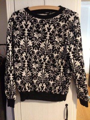 Mango Sweatshirt schwarz weiß