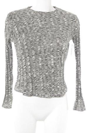 Mango Sweatshirt schwarz-wollweiß meliert Casual-Look