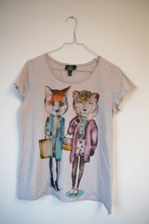 MANGO T-Shirt Cats M