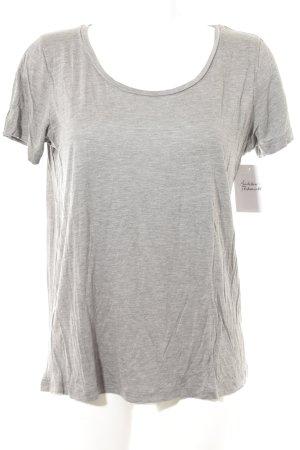 Mango T-shirt grijs gestippeld casual uitstraling