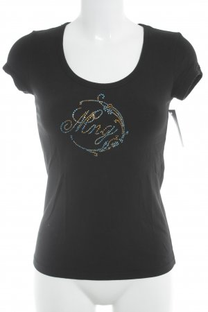 Mango T-Shirt schwarz Casual-Look