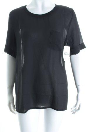 Mango T-Shirt schwarz schlichter Stil