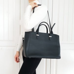 Mango Tasche Bag Tragetasche Handtasche Schwarz Umhängetasche Schultasche Rucksack