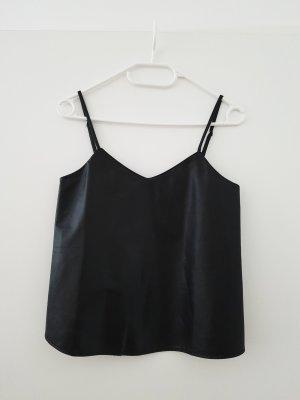 Mango Top Cami Gr.34 XS schwarz Lederimitat