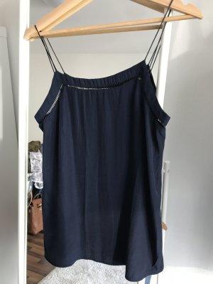Mango Tank Top dark blue polyester