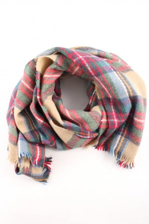 Mango Touch Knitted Scarf check pattern casual look
