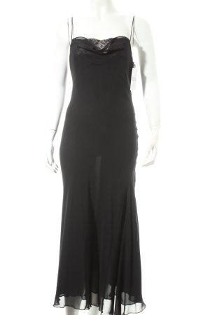 Mango Pinafore dress black romantic style