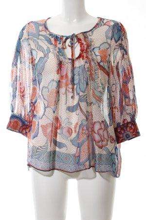 Mango Transparante blouse abstract patroon elegant