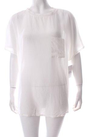Mango Transparenz-Bluse weiß schlichter Stil