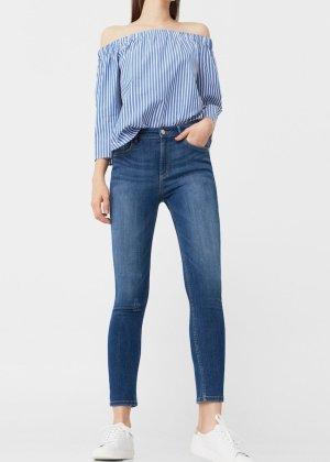 Mango Jeans skinny bleu