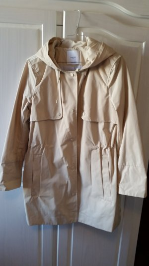 Mango Suit Trench Coat oatmeal polyester