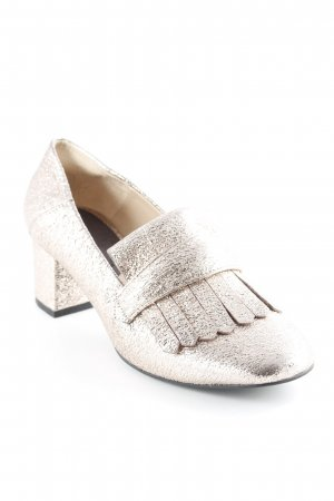 Mango Loafers rose-gold-coloured glittery
