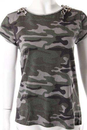 Mango Tshirt Military Grün