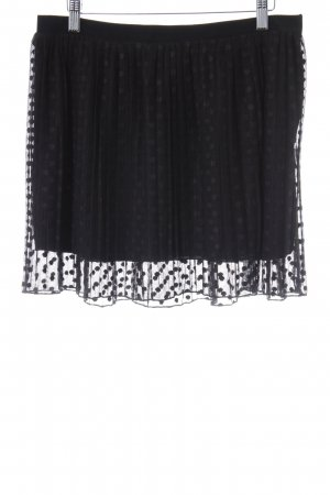 Mango Falda de tul negro estampado a lunares look Street-Style