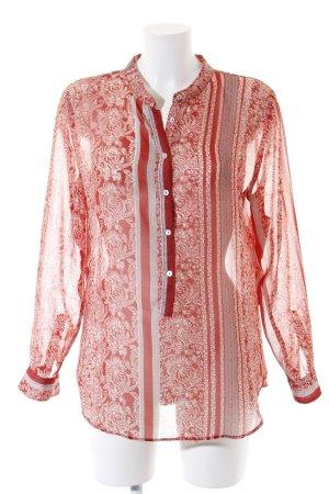 Mango Blusa de túnica estampado con aplicaciones look Boho