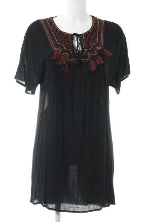 Mango Tuniekjurk zwart Zigeuner stijl