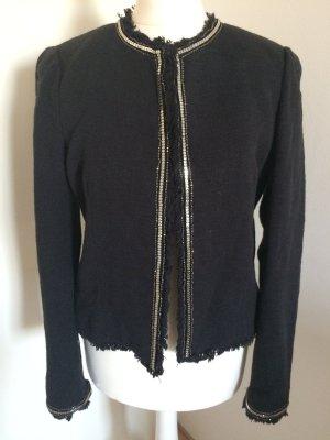 Mango Tweed Blazer 36 S neu schwarz Boucle Coco Chanel style