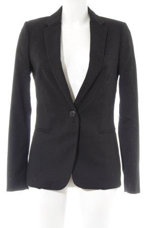 Mango Tweed blazer zwart zakelijke stijl