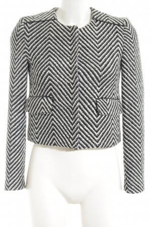 Mango Blazer Tweed negro-blanco estampado a rayas estilo «business»