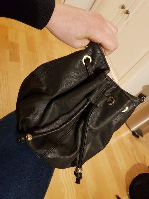 Mango Umhängetasche schwarz gold satchel