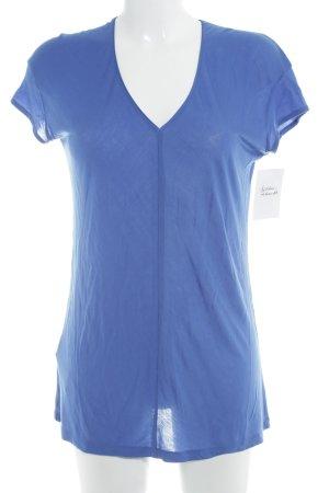 Mango V-Ausschnitt-Shirt blau Casual-Look