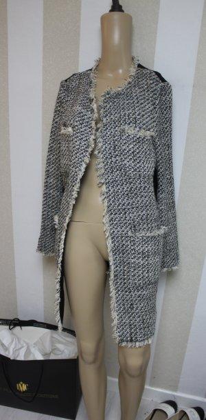 Mango Violetta Tweed Boucle Mantel Jacke Gr L