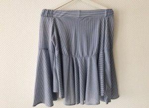 Mango Carmen blouse wit-azuur
