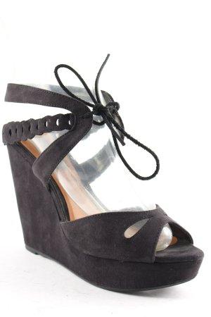 Mango Wedges Sandaletten schwarz klassischer Stil
