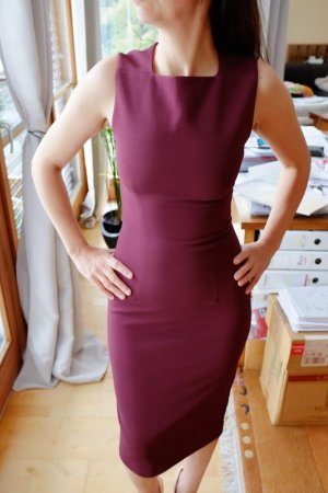 Mango Weinrot Kleid