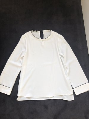 Mango Basics Oversized blouse zwart-wit