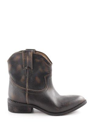 Mango Stivaletto western nero-marrone stile casual